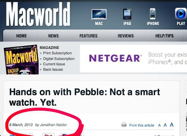 Twitter / jnxyz: Look Ma, I'm on Macworld ...