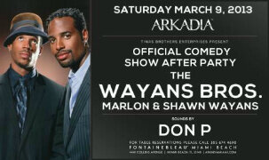 It's all about the WAYANS Bros. TONIGHT! @MARLONLWAYANS @Shawn_Wayans w/ @DJ_Don_P on the decks! http://t.co/Bi2DtlVgWl