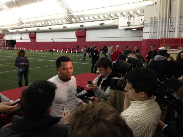 #badgers @Cromartie_M after #ProDay meeting with the media http://pic.twitter.com/nJkft9QPZW