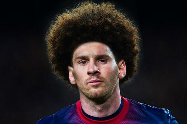 Not Match Of The Day On Twitter Ever Wondered What Lionel Messi Would Look Like With Marouane Fellainis Hair Style