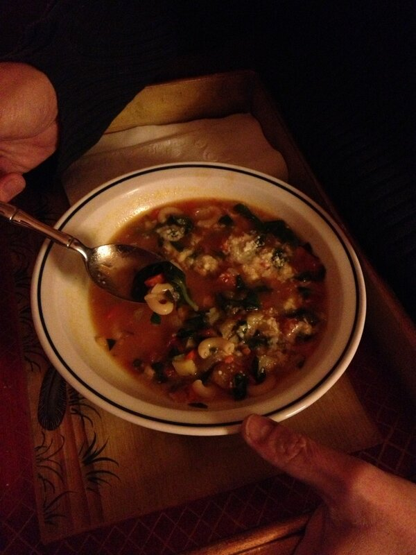 Twitter / kathygori: Sick husband soup ...