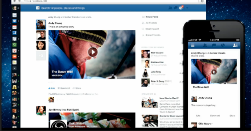 Thumbnail for Facebook's revamped news feed: Reaction