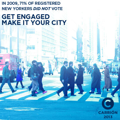 Twitter / AdolfoCarrion: In '09, 71% of registered NYC ...