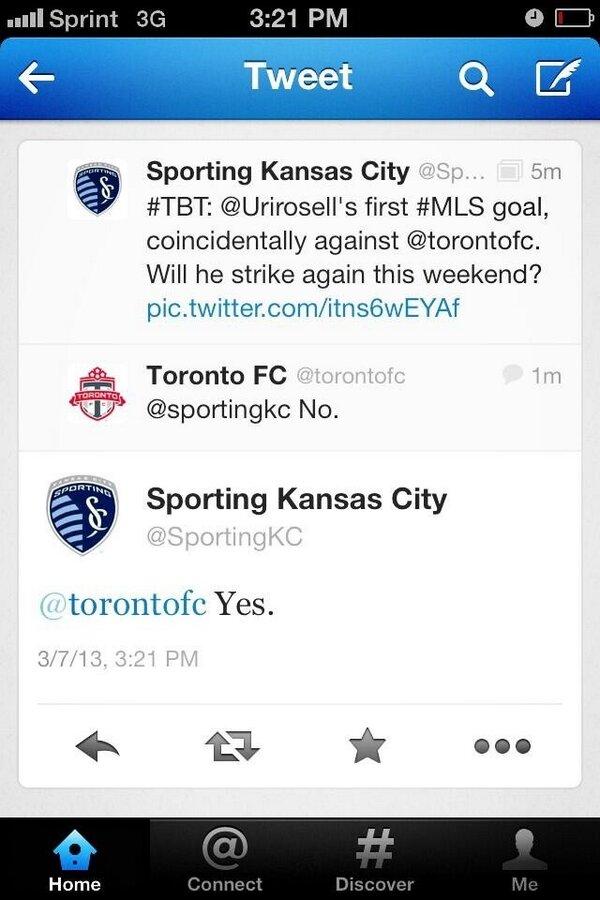 Twitter / Skpittard: Sporting FC and @torontofc ...