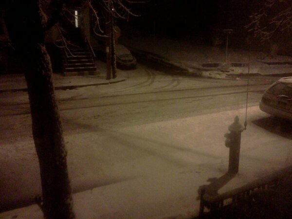 Twitter / pastorpmat: the snow outside my house ...