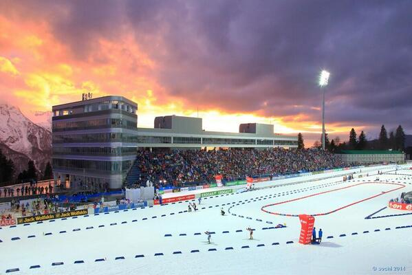 Twitter / Olympics: A sunset glow at the IBU World ...
