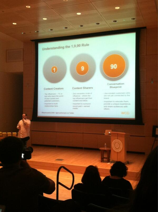 Do you know the 1-9-90 rule? #NewhouseGLDSM http://t.co/HFwtsGBJwC