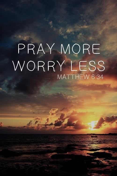 Therefore do not worry about tomorrow, for tomorrow will worry about itself. Each day has enough trouble of its o... http://t.co/JZhswKkipL