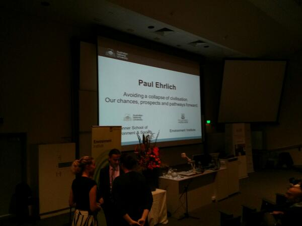 Getting ready for tonight's #fennerforum with @PaulREhrlich. The audience have started taking their seats http://t.co/uuZaSdey7a