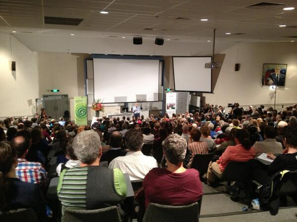 Packed house here @ANUFennerSchool for Prof. @PaulREhrlich #ehrlich #fennerforum http://t.co/xnnjii9sjG