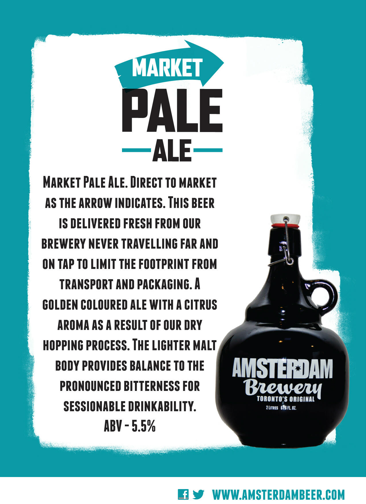 Twitter / amsterdambeer: Market Pale Ale, our new Dry ...