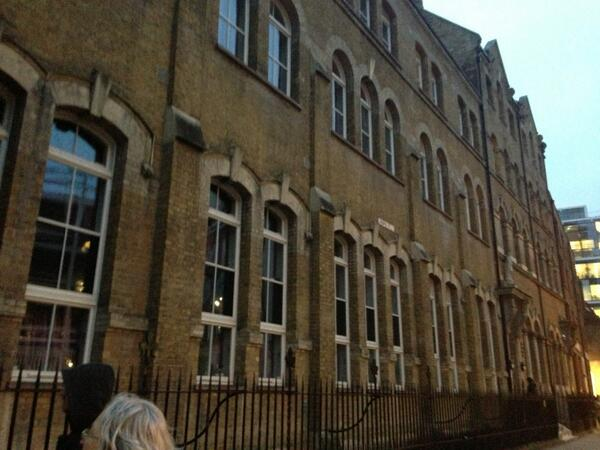 Providence Row hostel, the only building on the tour from the time that's still standing #ForgottenWomen http://t.co/HdHGGFdhII