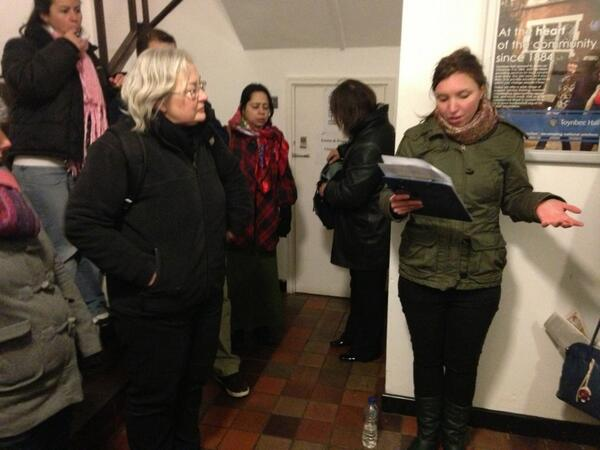 Finishing off @ToynbeeHall. 1 of @Safe_Exit's clients was murdered by a #JacktheRipper copycat, this abuse is ongoing http://t.co/lTC6VUv8MI
