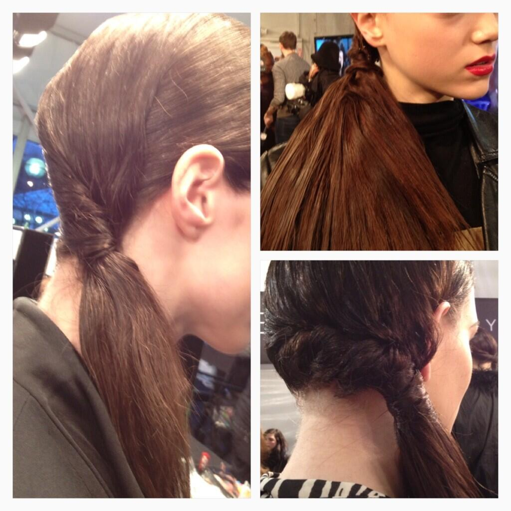 Twitter / vanessa_tweets: Close up of sleek low ponytail ...