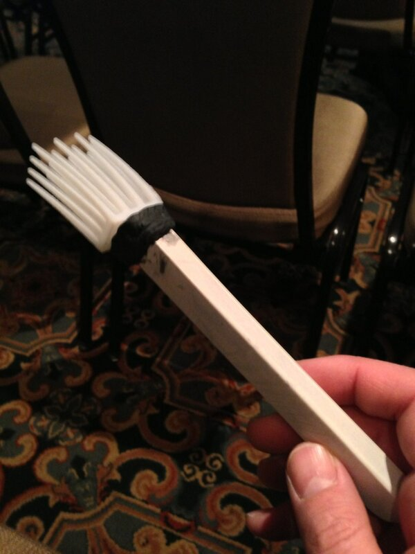 Something as simple as a fork, can be unforgiving for people with gross motor disabilities. #3dability #sxsw http://pic.twitter.com/fqTvXNjmYn