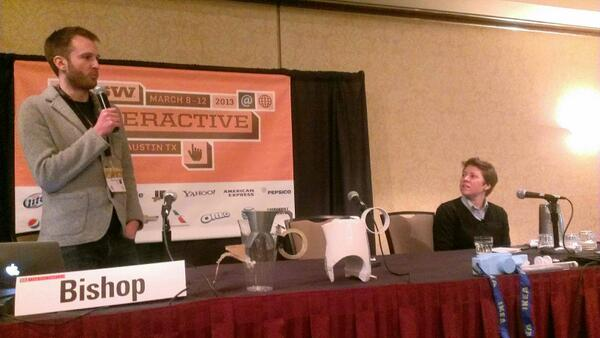 The #3dability panel with customized tea kettle. #3dability #sxswi #disability http://pic.twitter.com/w48Waaw7hg