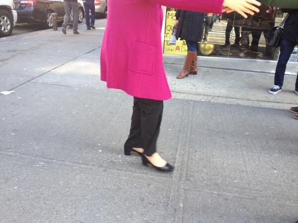 the shoes @Quinn4NY is wearing in her #WalkAndTalk tour. #nyc2013 http://pic.twitter.com/UrLcxIZty1