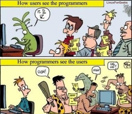 Twitter / rishad: How Programmers see Users and ...
