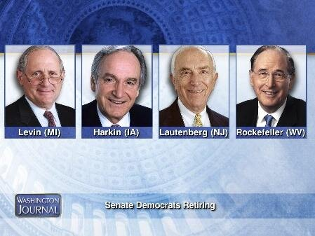 Twitter / cspanwj: Retiring members of the Senate ...