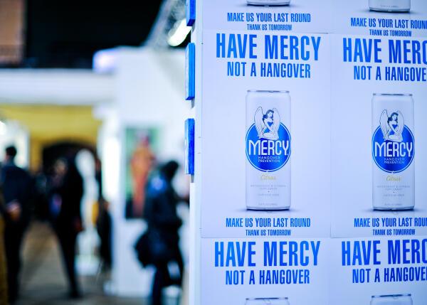 Twitter / DrinkMercy: Last day here at #fountainartfair ...
