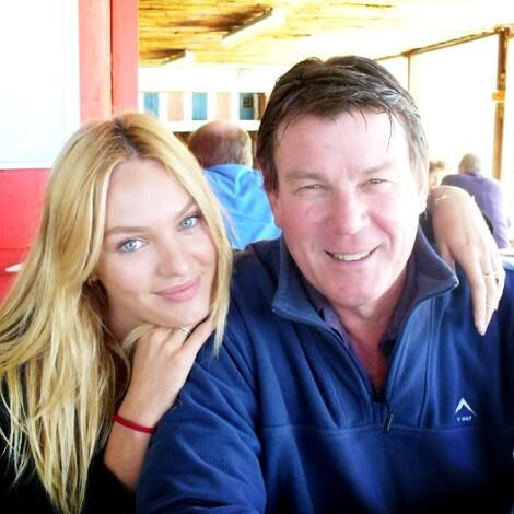 Photo of Candice Swanepoel  & her Father  Willem Swanepoel