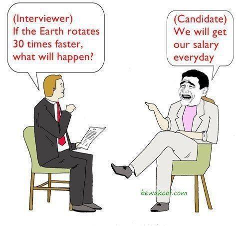 Twitter / JoyAndLife: Hilarious interview response.. ...