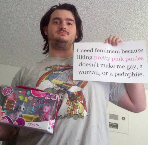 He need feminism because...