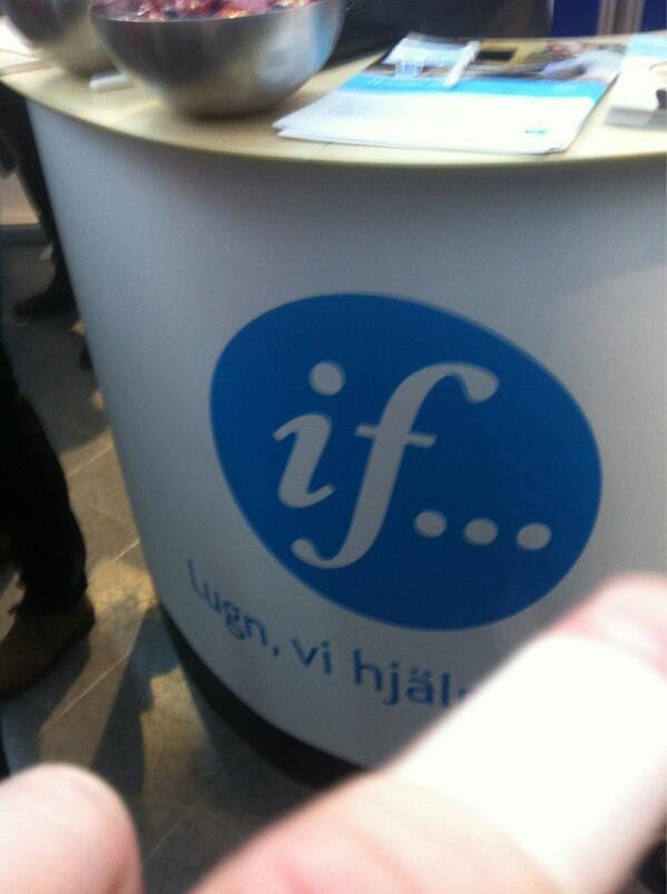 Tack @ifsverige för plåstret och alla svar på mina frågor #SVD13 http://t.co/o8mNet3N1C