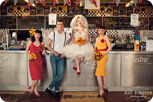 Twitter / KatForsyth: Rockabilly wedding goodness! ...