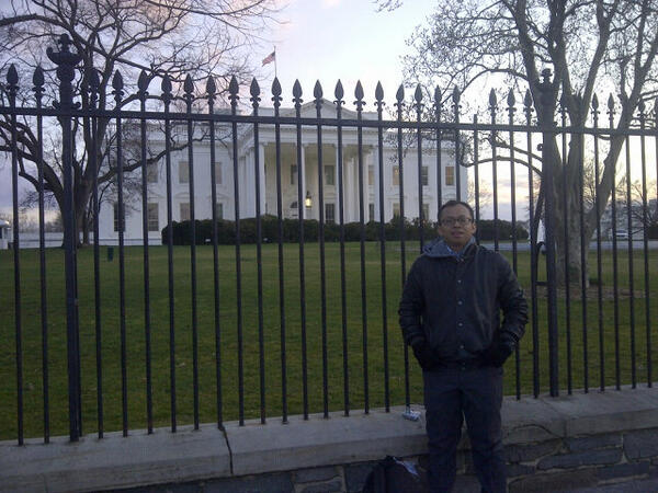 Twitter / asyafa: At the White House ...