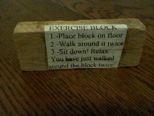 Twitter / JoyAndLife: My exercise regimen ;-) ...