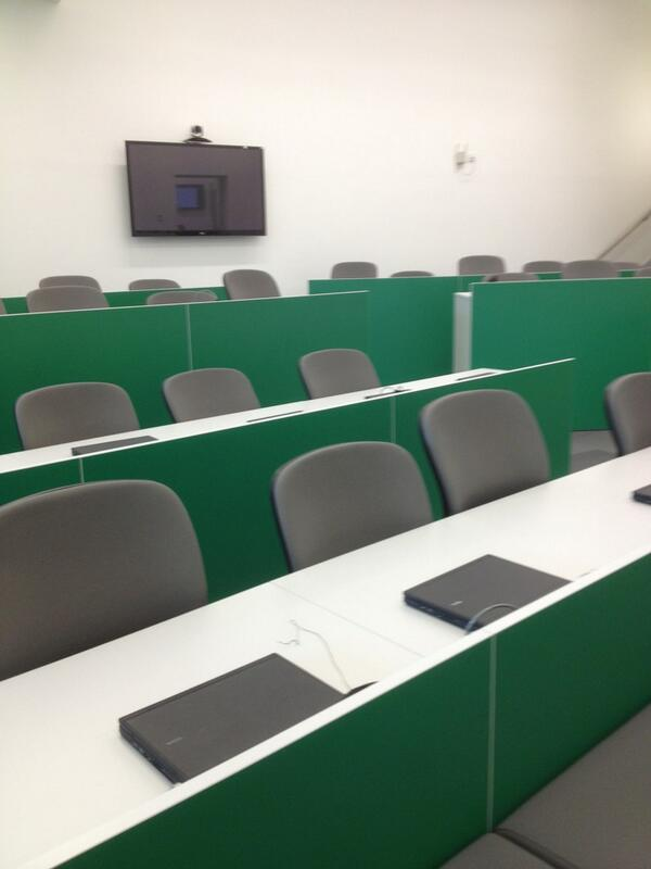 Lecture theatre with laptops at each seat ##cll1213 http://pic.twitter.com/LKyaFe7A1B
