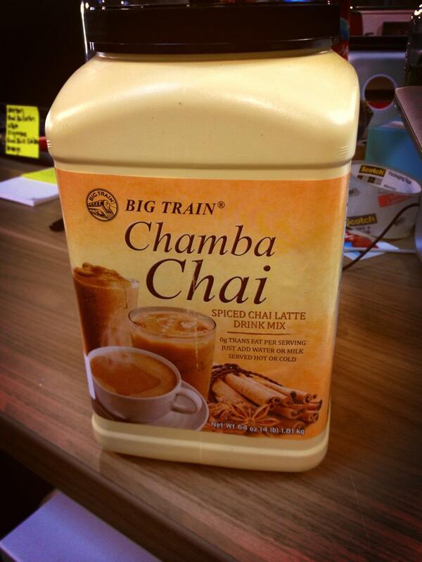 Twitter / desafernandez: Sweet glory. My @bigtrain Chai ...
