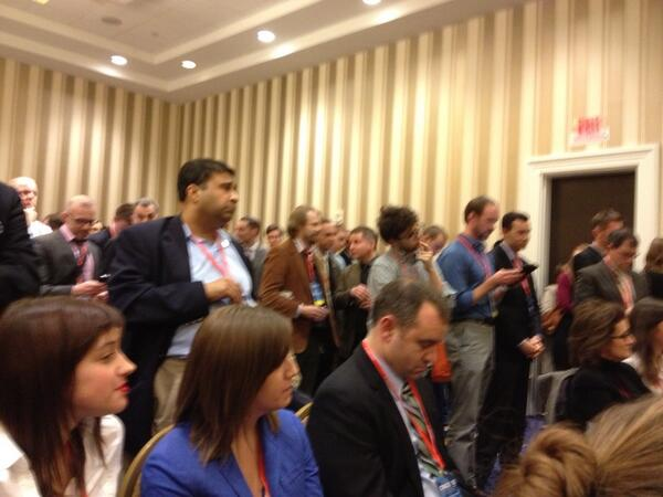 Completely packed room for #cpac2013 unofficial panel on including #LGBT inclusion in the conservative movement. http://pic.twitter.com/4kdjgSRiH5