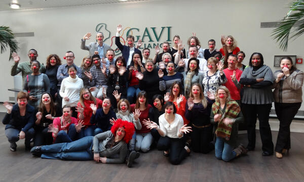 Twitter / GAVIAlliance: #photo Celebrating @comicrelief ...