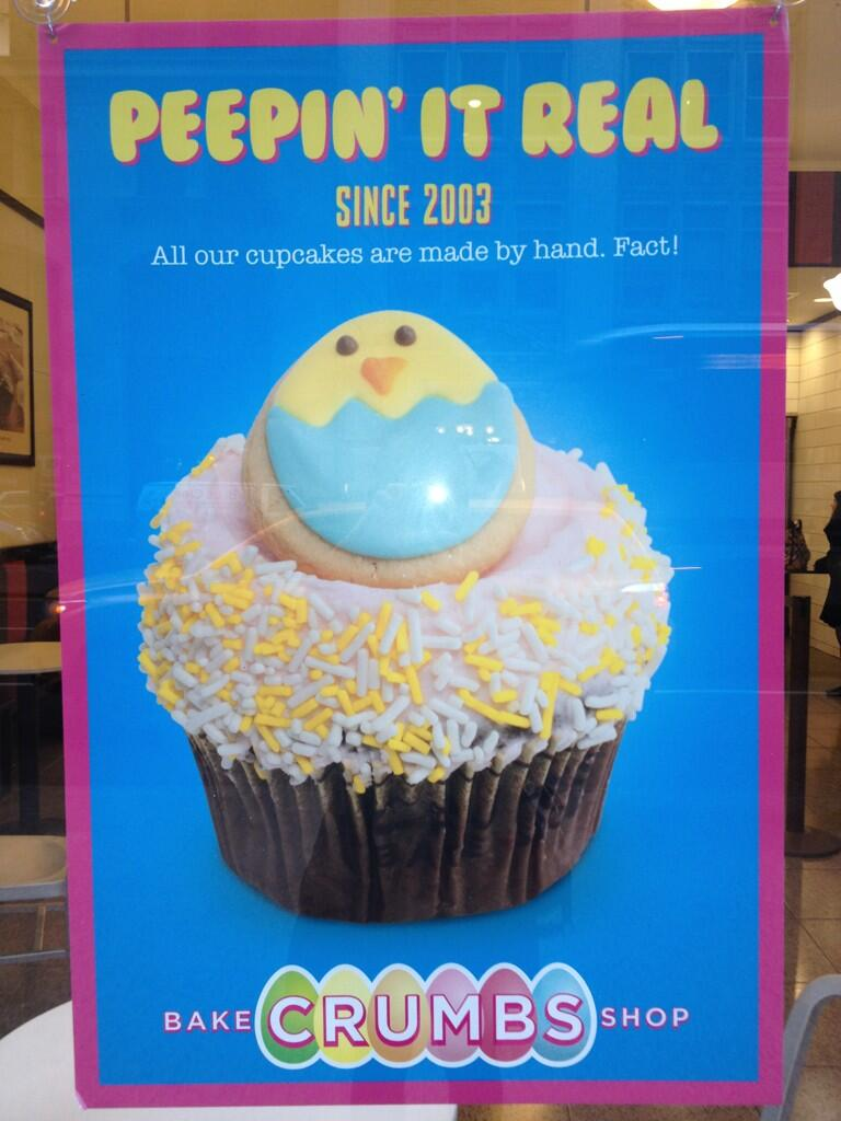 Twitter / aliveasart: Peep placement in cupcake ...