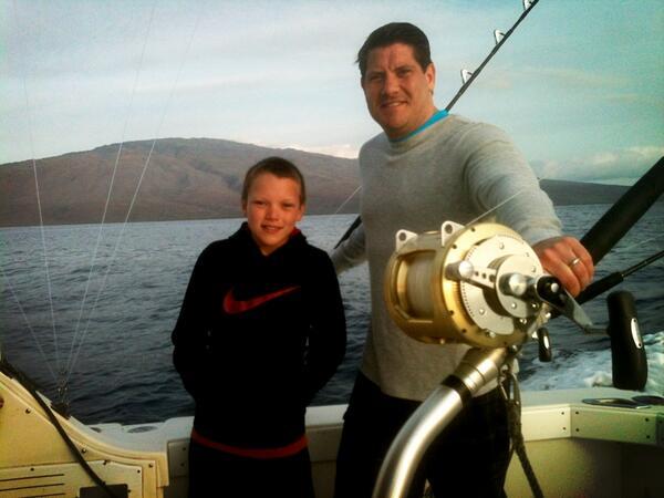 Twitter / BrandFlair: Fishing w/son Evan off of Lanai, ...