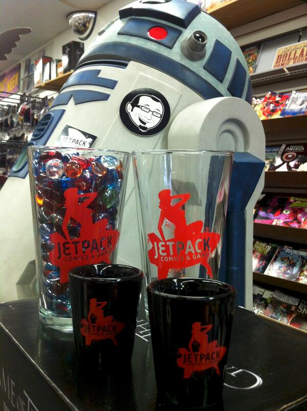 Twitter / JetpackComics: New Jetpack Comics pint glasses ...