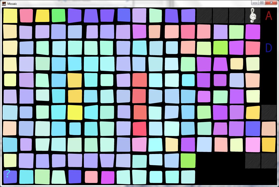 Mosaic roguelike pattern