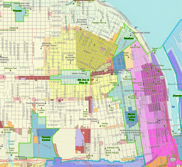 Chris Karnes on Twitter Just for fun Tacoma zoning map Blue