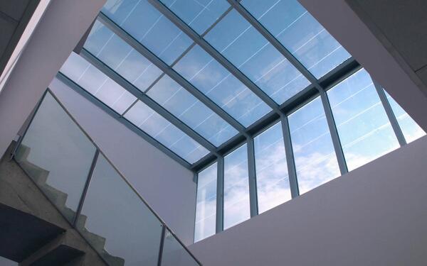Curtain Wall Solar : Onyx solar on twitter quot transparent photovoltaic skylight