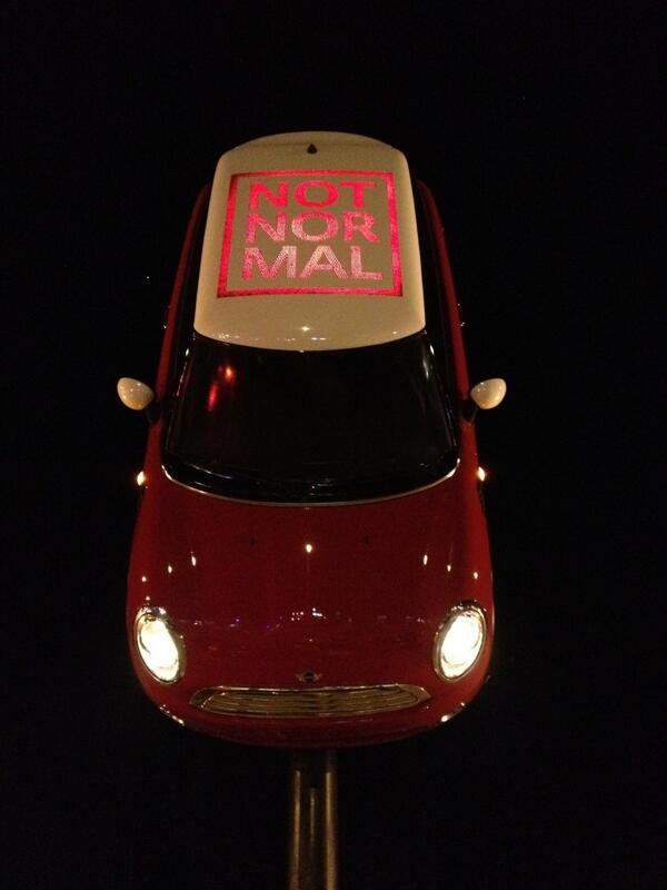 Twitter / SherryHoldridge: Mini Cooper on a stick #sxsw ...
