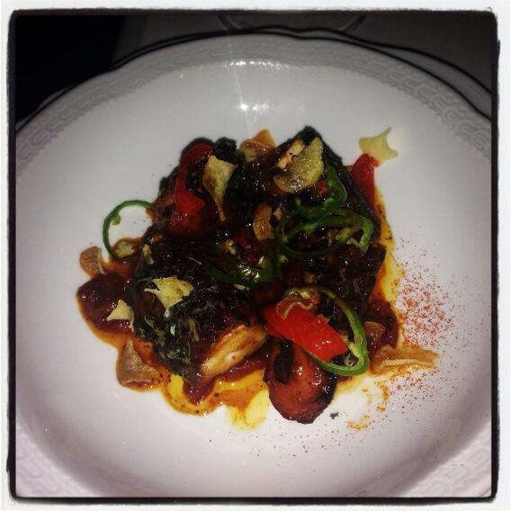 Twitter / restaurantgirl: Amazing octopus pizzaiola, ...