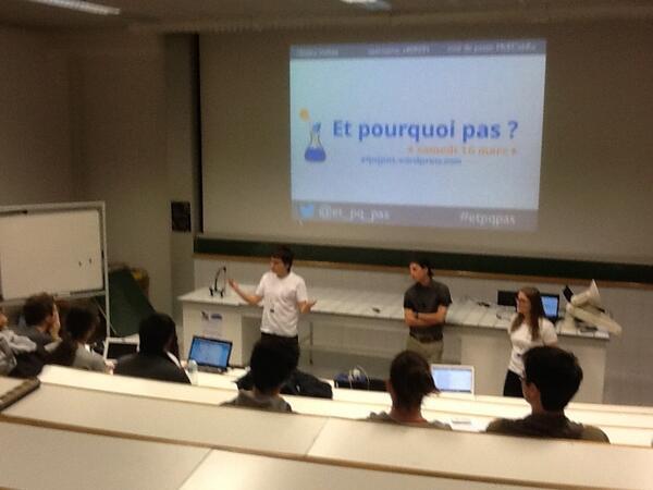 C'est parti!Venez faire un tour à l'ENS Lyon cet aprèm pour apprendre plein de choses ! :) #etpqpas http://pic.twitter.com/8CNiMkqTqp
