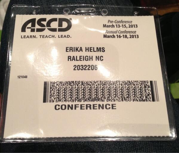 Excited to learn! #ASCD13 #LearnTeachLead http://pic.twitter.com/I606ME4EyJ