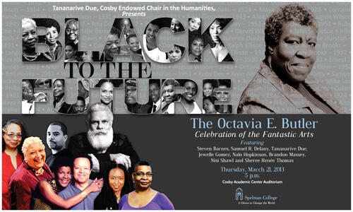 "@SpikeLee Check out the #OctaviaButlerSpelman Celebration poster: your face is in the U in ""Black to the Future""! http://t.co/XrrIfR740u"