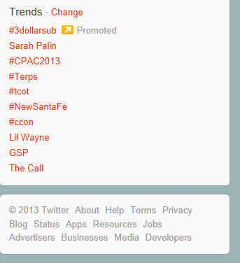 To all those attending @CatalystCon I got a screen grab while #CCon was trending @ 3/16/2013 10:05 EDST @DeeDennis http://pic.twitter.com/sqNhCmA6iL