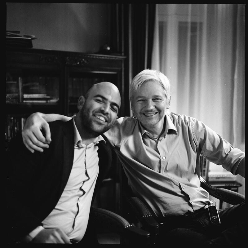 Julian Assange e Roberto Saviano