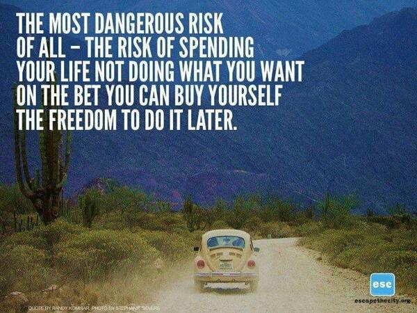 Twitter / JoyAndLife: The most dangerous risk of ...