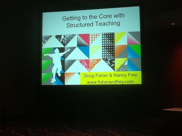 Getting reading to learn from Doug Fisher and Nancy Frey! #ascd13 http://pic.twitter.com/hV6Rn8erDk
